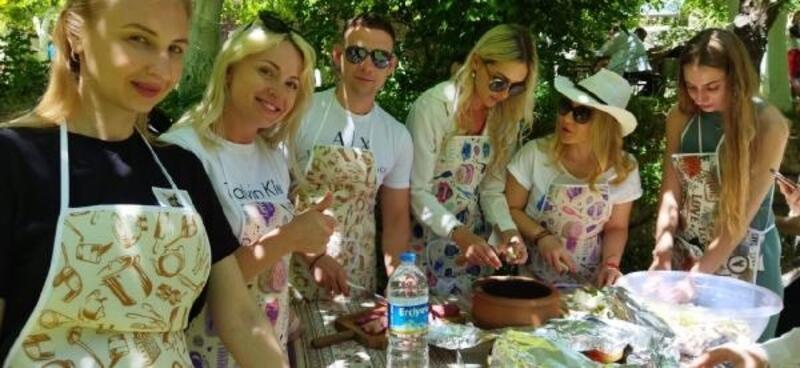 Soğanlı ören yerine Ukraynalı turist ilgisi