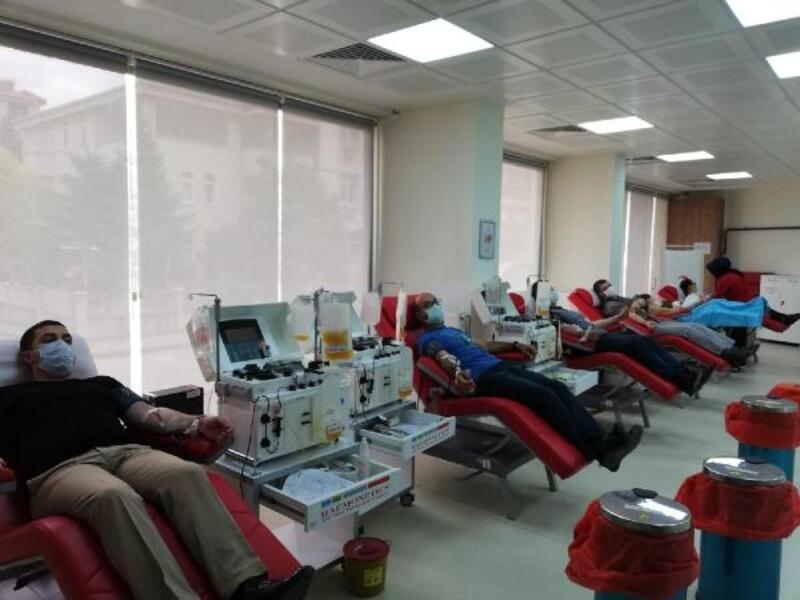 Trakya Üniversitesi personelinden kan bağışı
