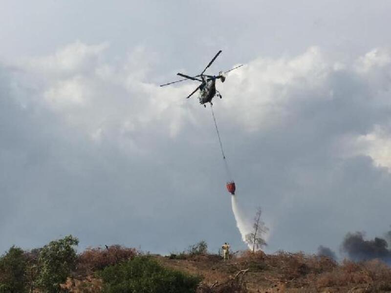 Turgutlu'da makilik alanda çıkan yangın söndürüldü