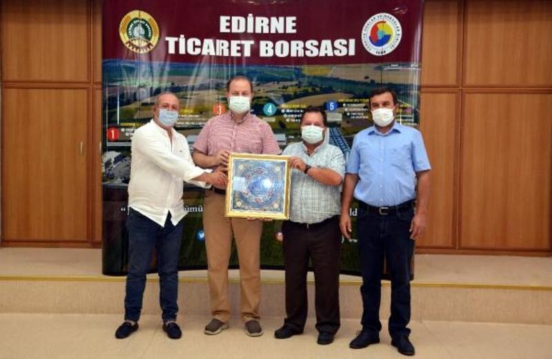 Edirne'de yeni mahsul buğday, borsada satışa sunuldu