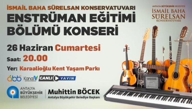 Konservatuar öğrencileri, Karaalioğlu Parkı'nda konser verecek