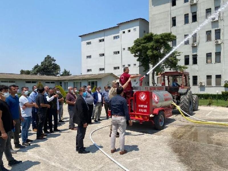 Hatay'da muhtar ve güvenlik korucularına yangın eğitimi