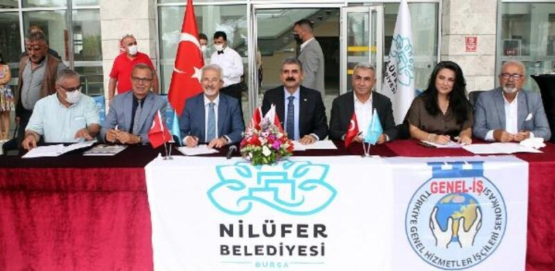 Nilüfer'de toplu sözleşme imzalandı