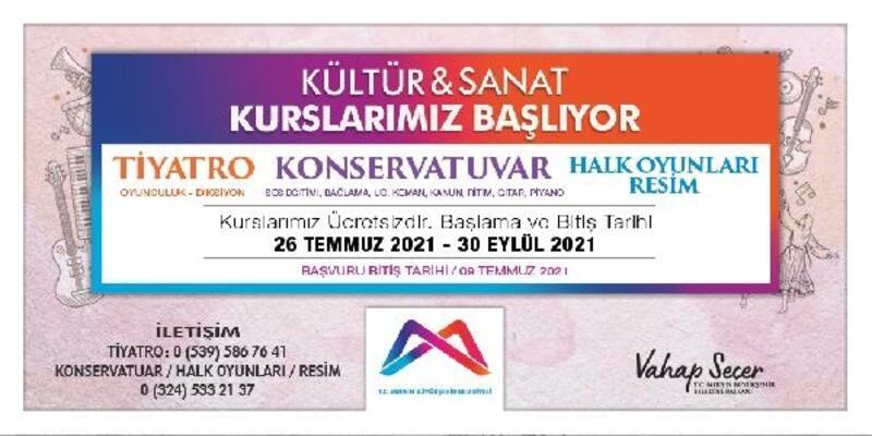 Büyükşehir'in ücretsiz kültür sanat kursları başlıyor