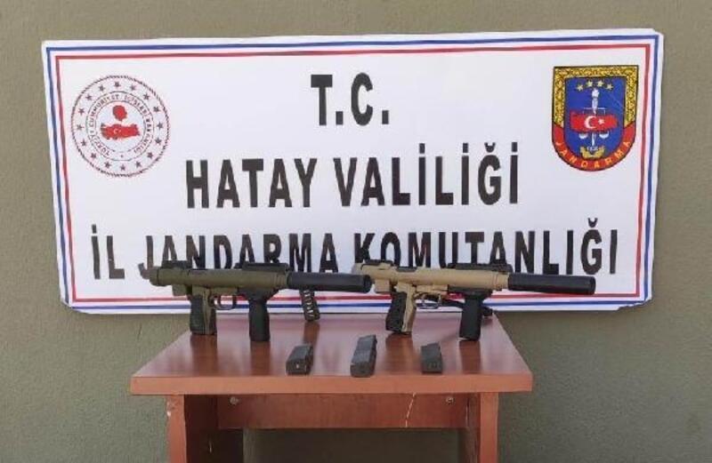 Hatay'da çalılıklara atılmış makineli silah bulundu