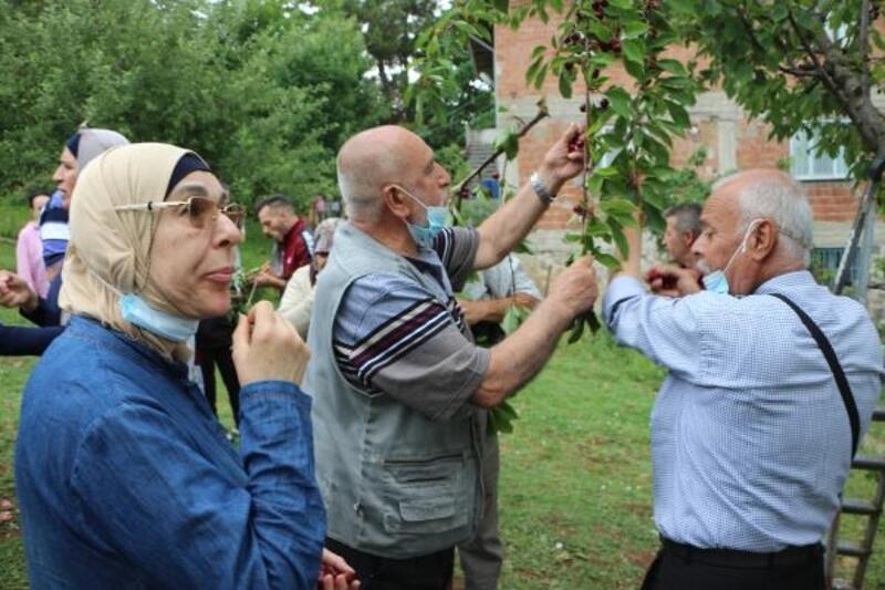 Filistinli turistler dalından meyve yedi, balıkları besledi