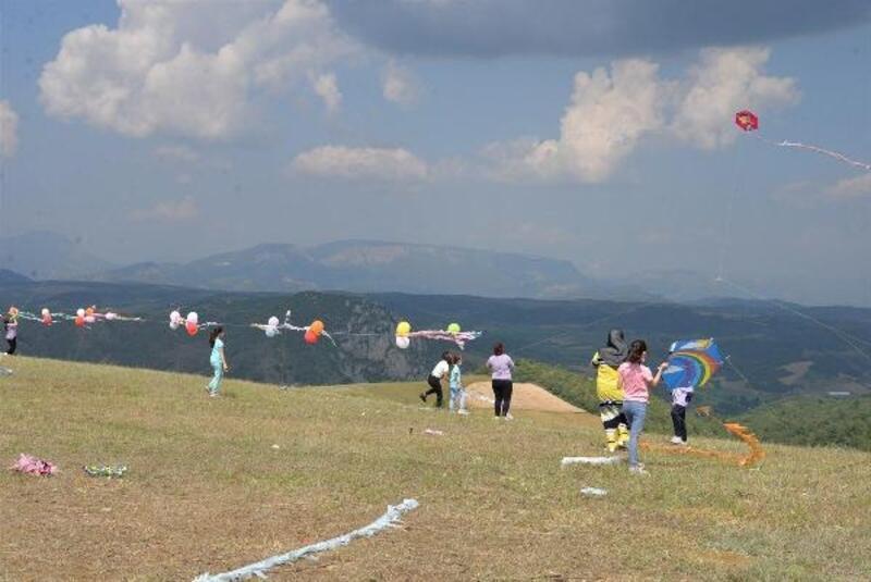Bilecik'te çocuklar, uçurtma etkinliğinde eğlendi