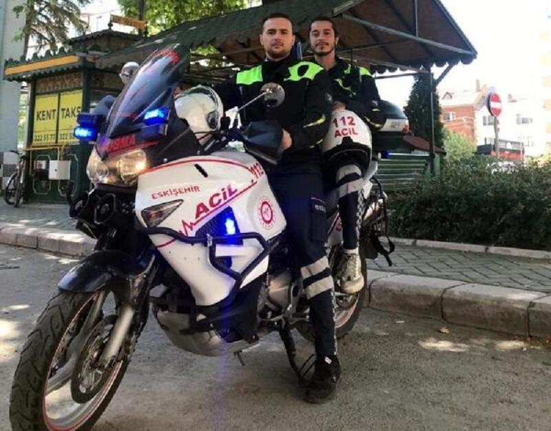 Eskişehir'de motosikletli ambulans ekibi göreve başladı