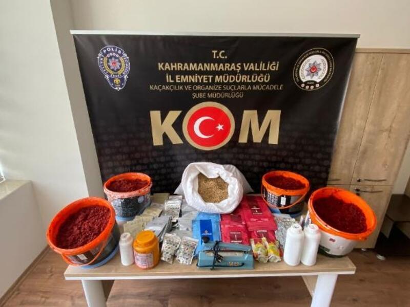 Kahramanmaraş'ta kaçak nargile tütünü operasyonu