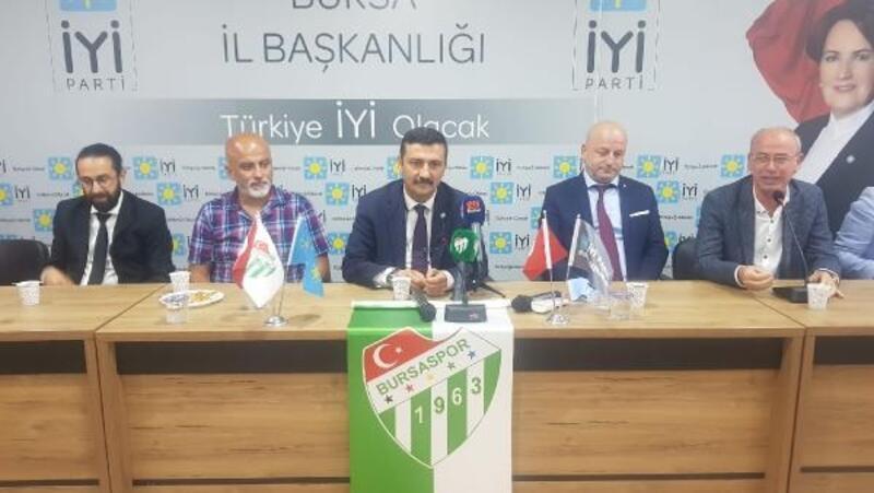 İYİ Parti Bursa İl Başkanlığı'ndan Bursaspor'a 100 adet kombine sözü