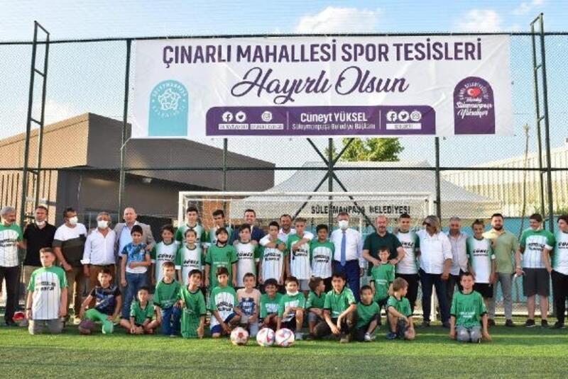 Süleymanpaşa Belediyesi'nden Çınarlı Mahallesi'ne spor tesisi