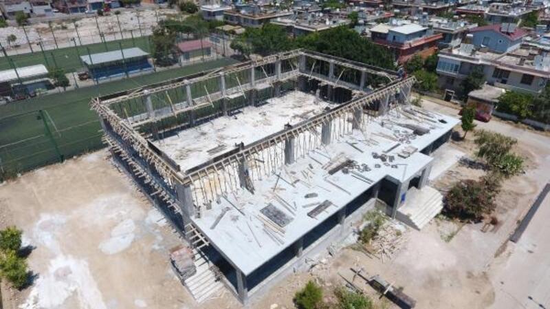 PTT Evleri Kapalı Spor Salonu inşaatı hızla yükseliyor