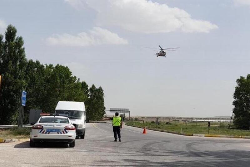 Eskişehir'de helikopter destekli denetimde 31 sürücüye ceza