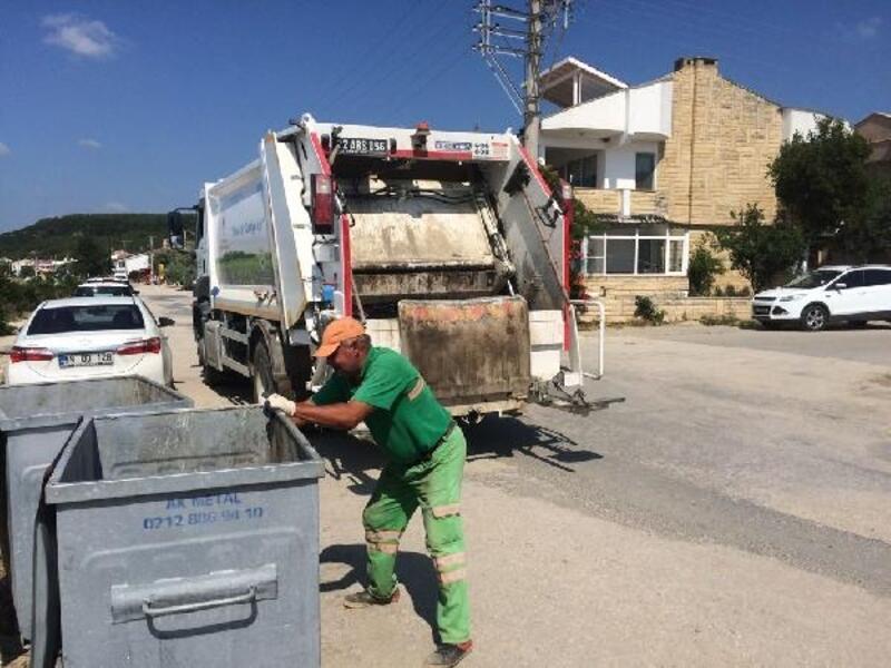 Saros Körfezi'ndeki çöp konteynerleri dezenfekte ediliyor