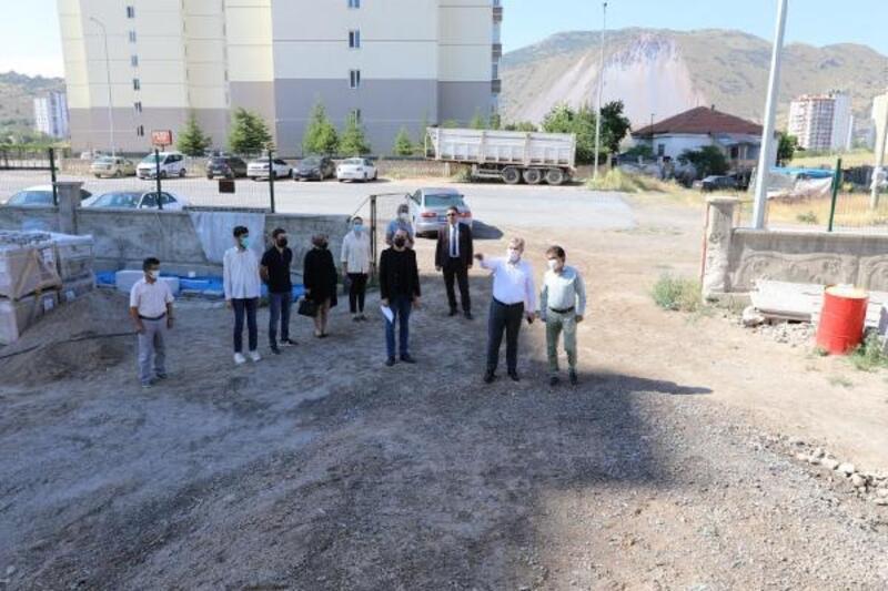 Başkan Palancıoğlu, anaokulu inşaatında inceleme yaptı