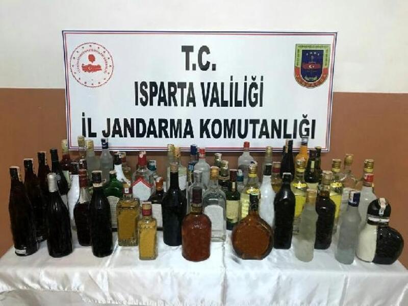 Isparta'da sahte içki operasyonu