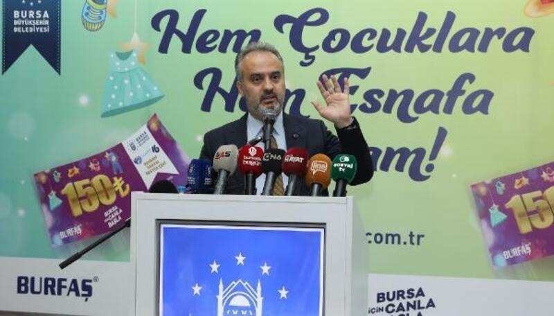 Bursa Büyükşehir Belediyesi'nden çocuklara hediye, esnafa ise destek paketi