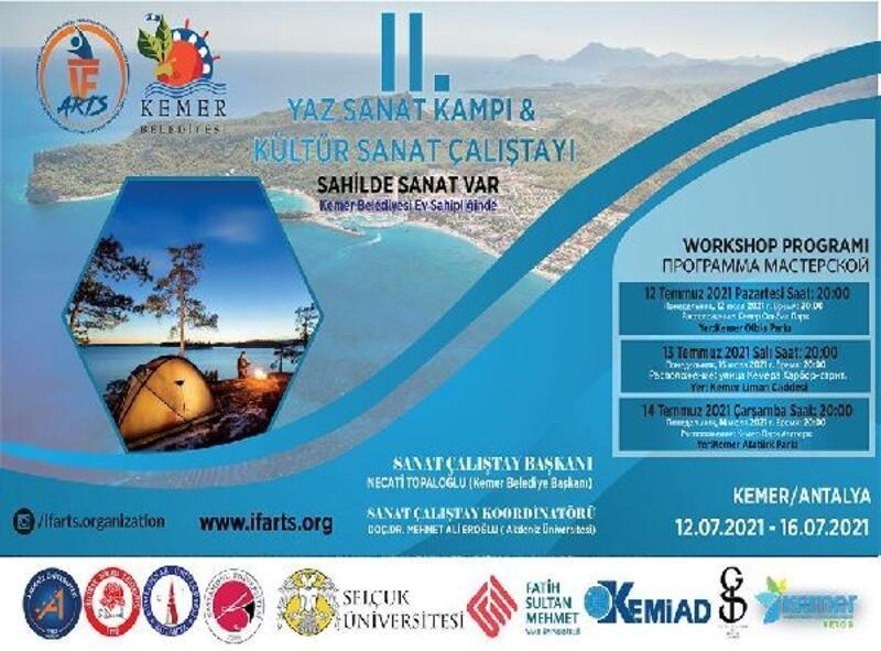 Kemer'de Yaz Sanat Kampı ve Kültür Sanat Çalıştayı