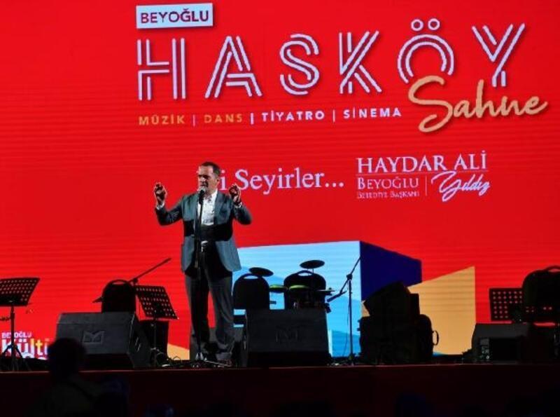 Beyoğlu'nun yeni kültür sanat sahnesi 'Hasköy Sahne' açıldı