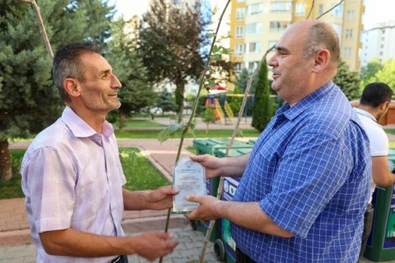 Talas'ta geri dönüşüme destek verenlere ödül