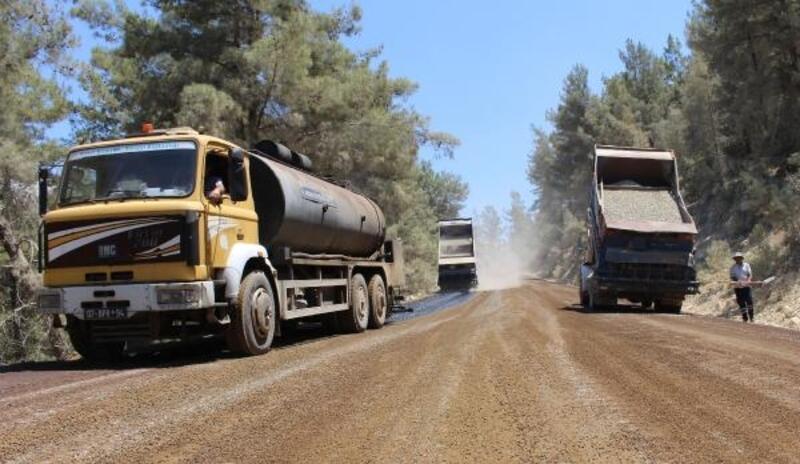 Üç ilçenin kullandığı grup yolu asfaltlanıyor