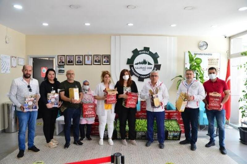 Uludağ OSB'den çalışanlara, Fincancılar Anlaşması'nın 255. yıldönümünde erzak dağıtımı