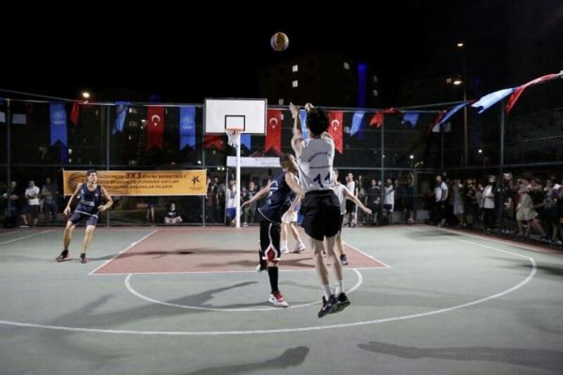 Sokak Basketbolu Turnuvası'nda 53 takım şampiyonluk için mücadele etti