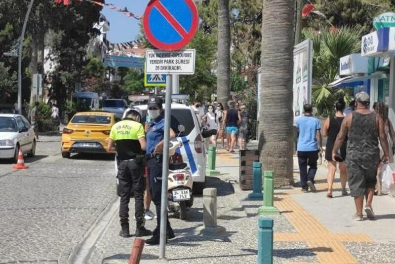 Datça'da 1 günde 147 kişiye kask cezası
