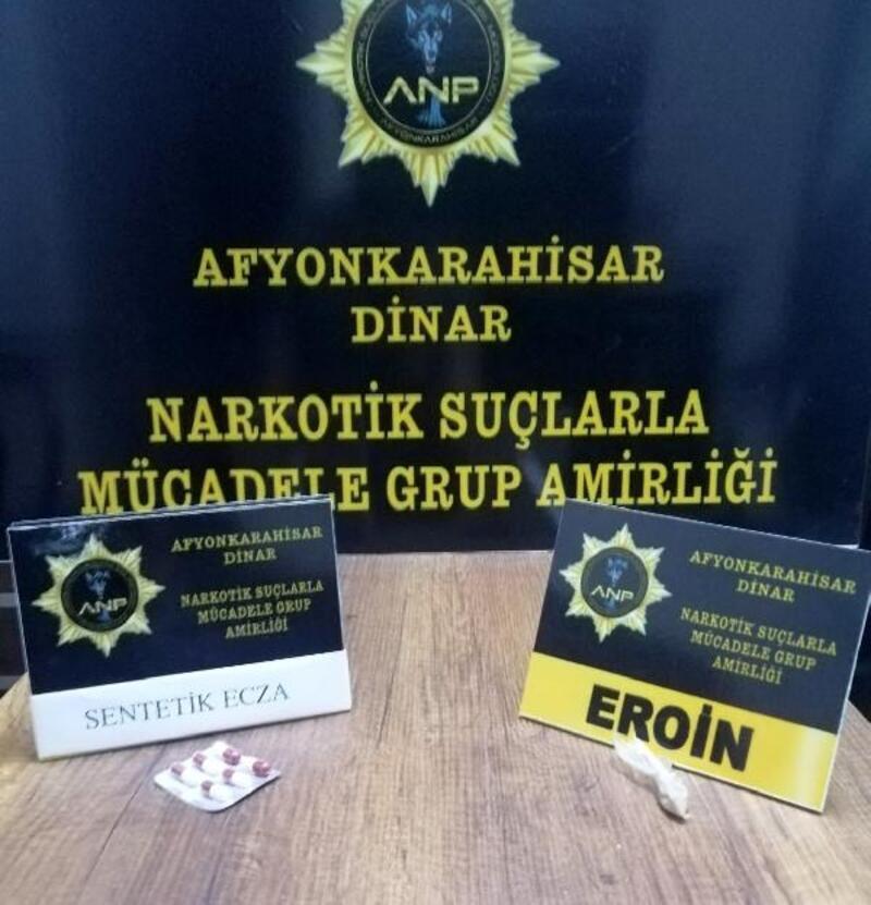 Dinar polisinden uyuşturucu operasyonu