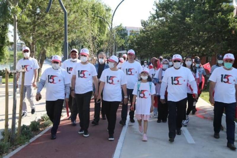 Gölbaşı'nda 15 Temmuz yürüyüşü