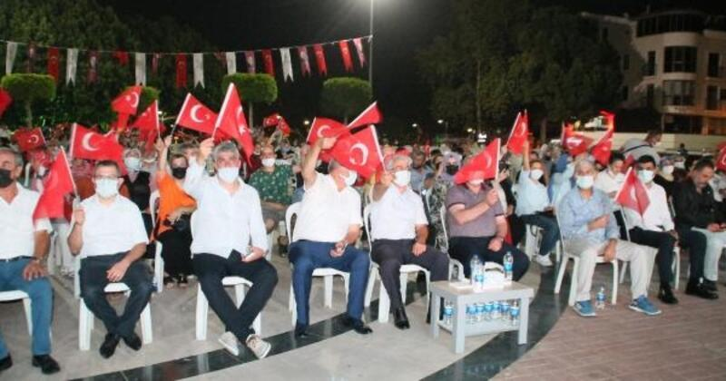 Manavgat'ta 15 Temmuz etkinliği