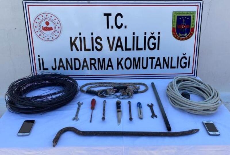 Kilis'te kablo hırsızlığına 2 gözaltı