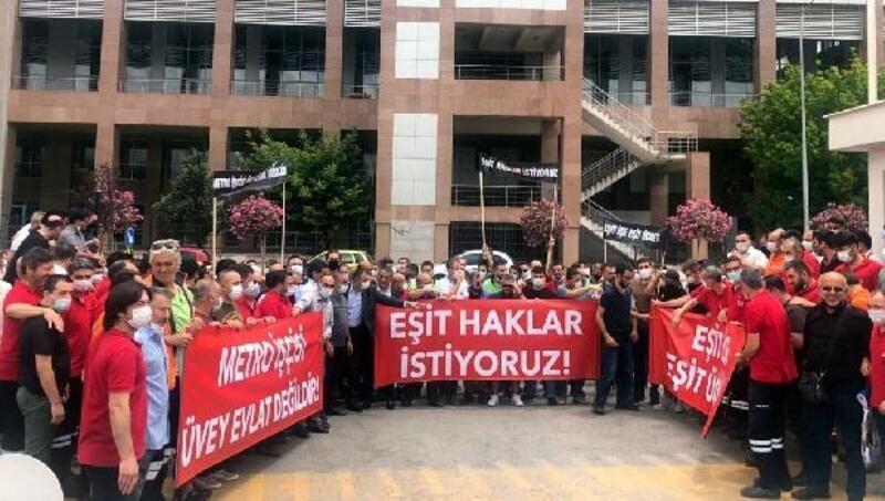 İzmir Metro çalışanlarından yemek protestosu