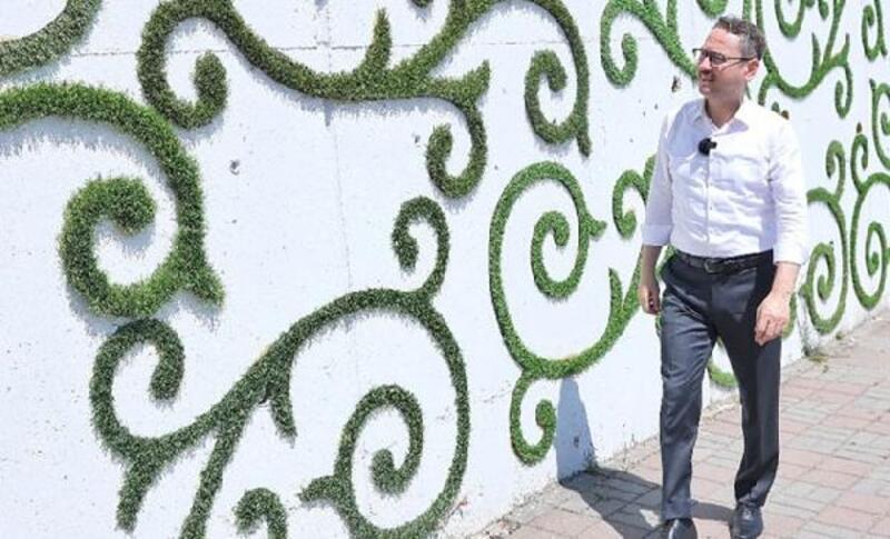 Başakşehir'de 'yeşil' duvarlara işleniyor