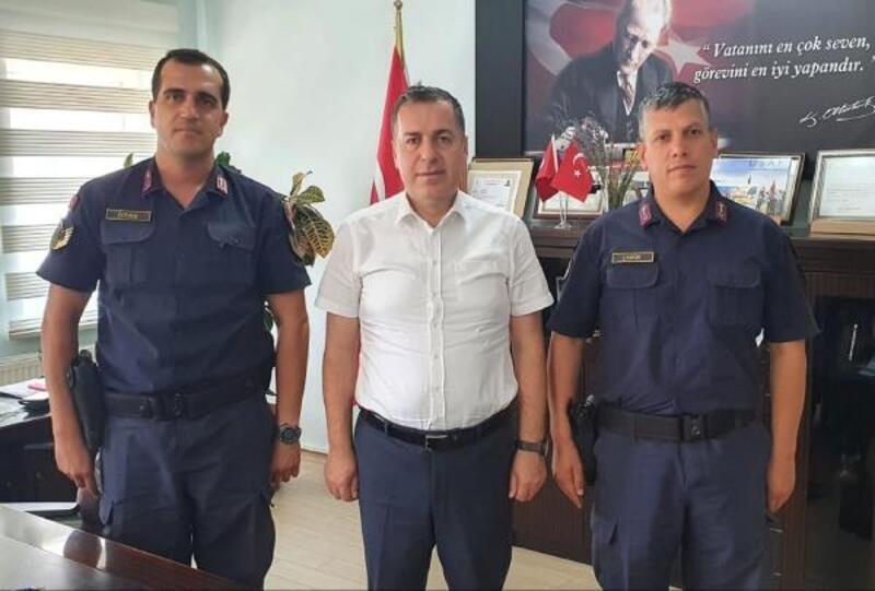 Komutanlardan veda ziyareti