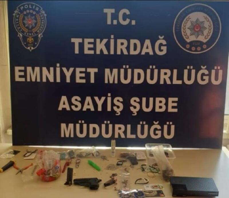 Tekirdağ'da 5 işyeri hırsızlığı şüphelisi yakalandı