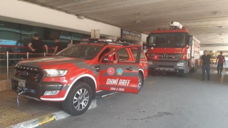 Trabzon Havalimanı'nda küçük çaplı yangın söndürüldü