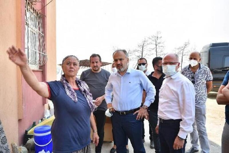 AK Parti Bursa İl Başkanı Gürkan'dan afet bölgesine destek ziyareti