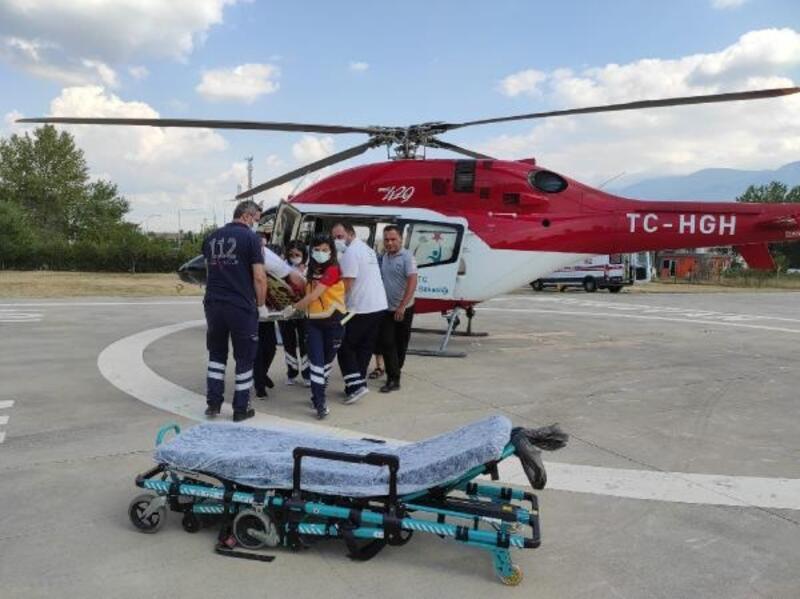 Helikopter ambulans, kalp rahatsızlığı yaşayan hastanın imdadına yetişti