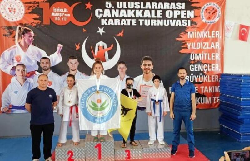 Nilüferli karatecilerden 6 madalya daha