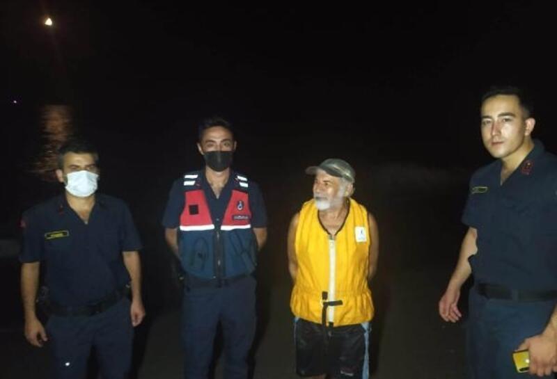 Jandarmadan denizde kurtarma operasyonu