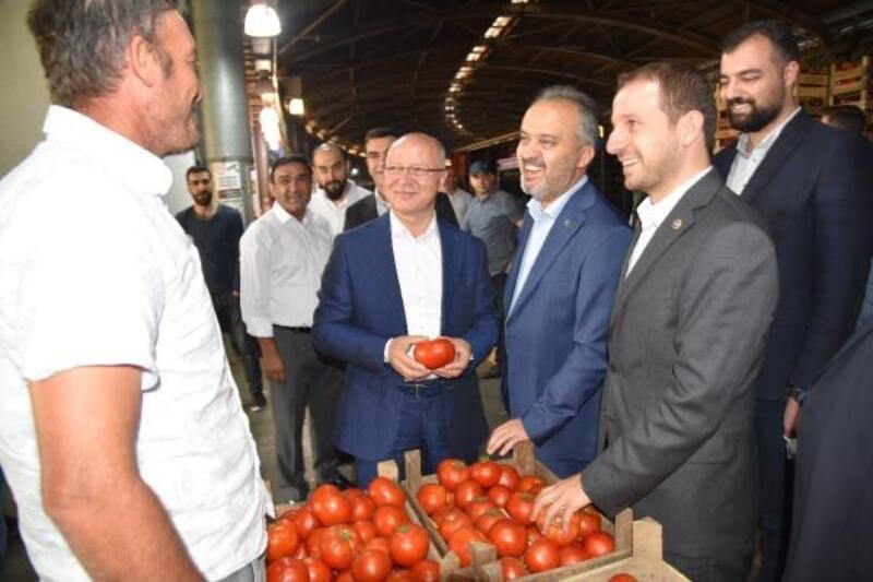 AK Parti İl Başkanı Gürkan, Bursa Kent Hali''ni ziyaret etti