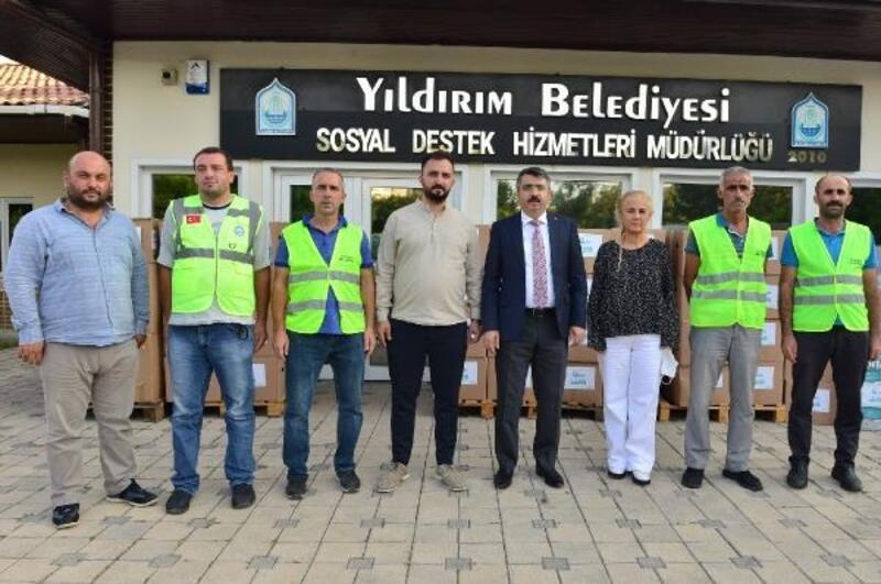 Yıldırım Belediyesi'nden Kastamonu'ya yardım eli