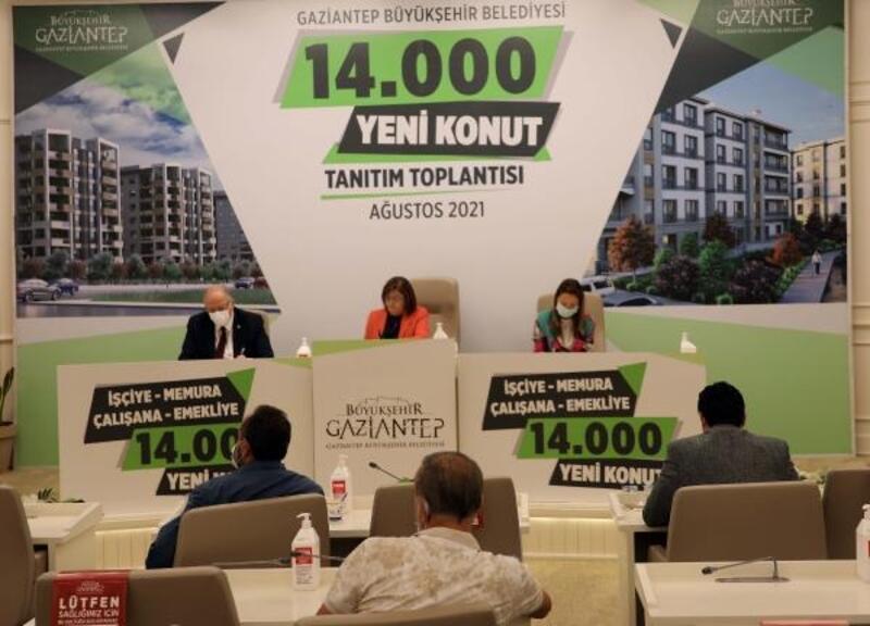 Gaziantep'te 14 bin yeni konut yapılacak