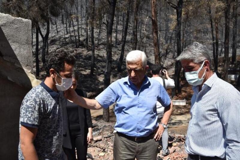 Başkan Gürün, Marmaris'te yangınzedelerin yanında