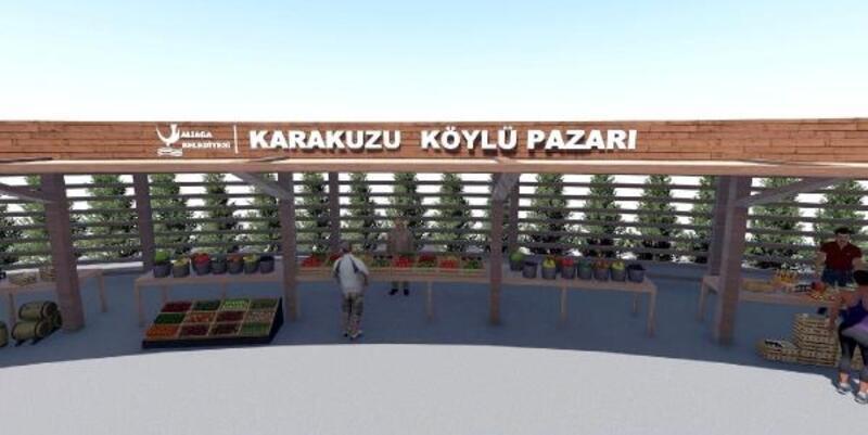 Karakuzu köylü pazarı hızla ilerliyor