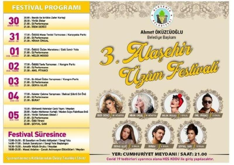 Üzümün başkenti Alaşehir'de festival zamanı