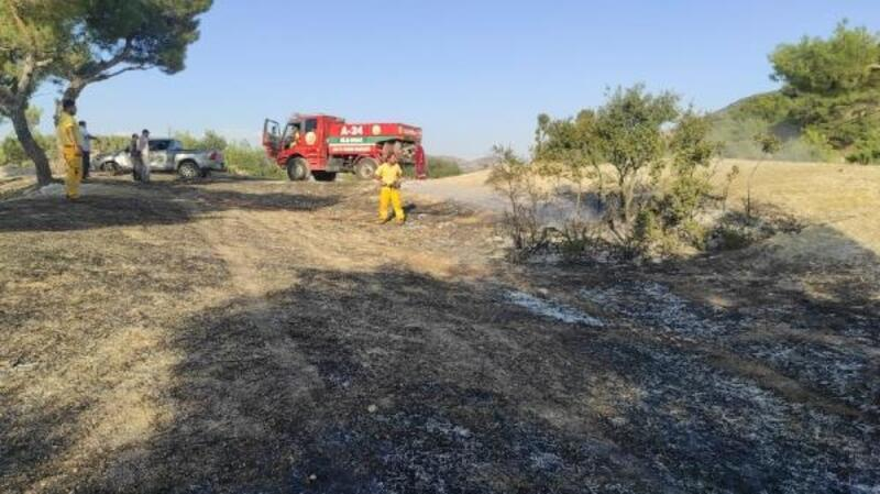Kilis'te ormanlık alanda yangın kısa sürede söndürüldü
