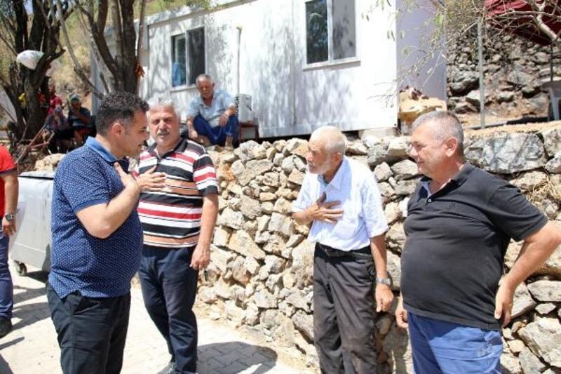 Başkan Yücel Alanya ve Gündoğmuş'ta yangın bölgelerini ziyaret etti