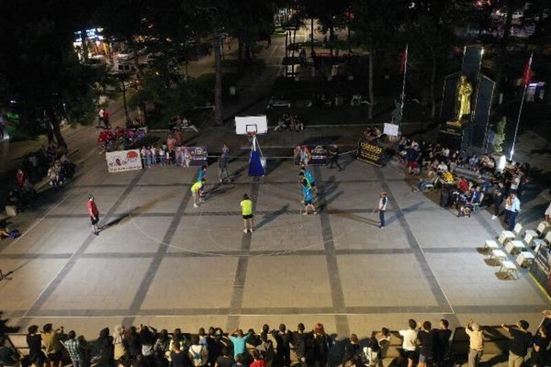 Erbaa'da sokak basketbolu turnuvası tamamlandı